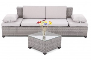 Sofa Milano 2 w 1 Grey / Light Grey