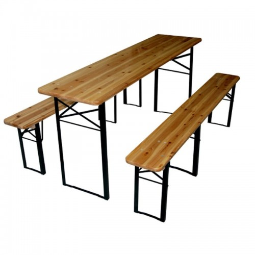 Ogromny Zestaw do ogrodu stół + 2 ławki FamilyGarden.pl VT72